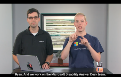 Two New Features From Microsoft: Disability Answer Desk And Accessibility  Guide