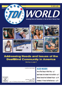 Vol. 49 Issue 1 (2018) Addressing Needs Issues DeafBlind Community America
