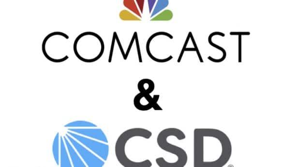 Comcast and CSD logo partnership