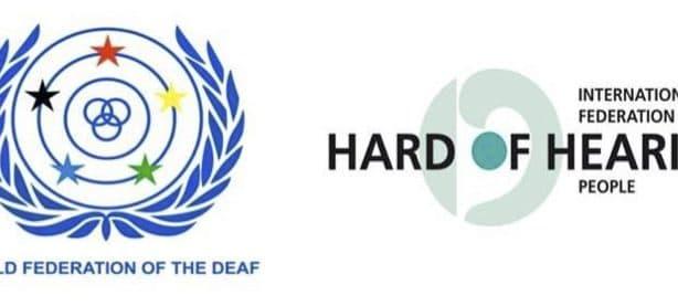 WDF logo and IFHOH logo